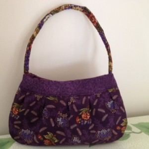 Purple Mixed Print Handbag
