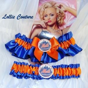 Football Wedding Garters Custom bridal lingerie Blue Garters Lions football garters