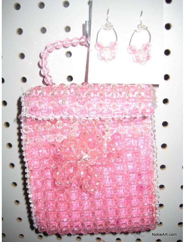 Pink-Beaded designer purse