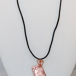 OOAK Etched Copper Pawprints Choker - Fur Babies Collection