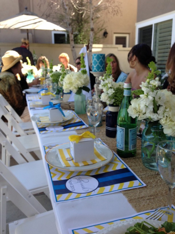 Colorful, Modern Baby Shower Placemats