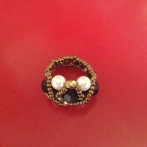 Lady Cora beaded ring is classic in design but makes a statement.
