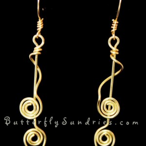 Wavy Tendril Earrings- Tendrils of the Vine Collection