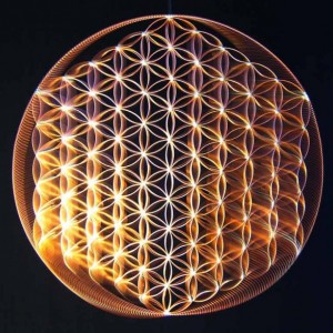 flower of life in copper, larger version