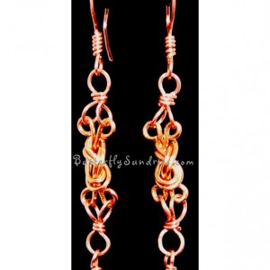 Wire Naval Knot & Shell Earrings - Sirens and Sailors Collection