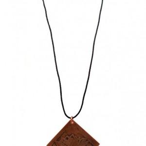 Etched Copper Lotus Pendant - Lotus Collection