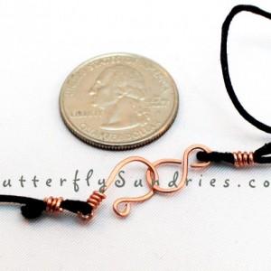 Etched Copper Pawprints OOAK Choker - Fur Babies Collection