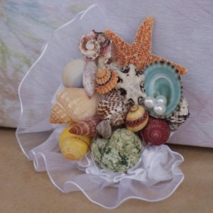 Seashell Corsage Samples for Prom, Spring Dance, Beach Weddings, And Destination Weddings