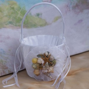 Seashell/Beach/ Wedding Flower Girl Basket
