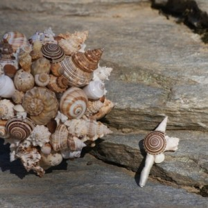 Seashell wedding Bouquet / Boutonierre Set , Beach Wedding, Seaside Wedding, Destination wedding