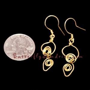 Handmade Brass Tendril Earrings - Tendrils of the Vine Collection