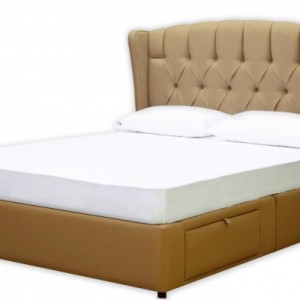 Luxury Handcrafted Platform Bed with Storage Drawers - Upholstered in your choice of fabric.  Diamond Tufted Headboard - SALE