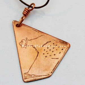 OOAK Etched Copper Bascinet Helmet Pendant - Knights Collection - Supports Knights of Veritas