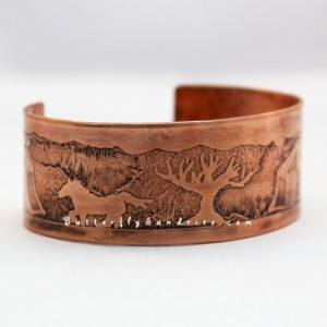 OOAK Adjustable Etched Medieval Encampment Cuff Bracelet - Supports Knights of Veritas - Knights Collection