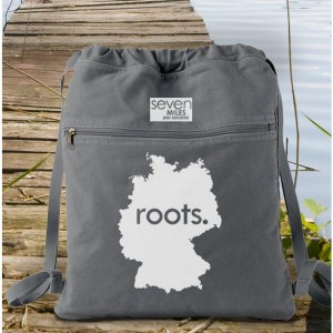 Germany Roots Canvas Backpack Cinch Sack
