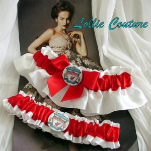 Maple Leaf Wedding Garters Custom Theme Sports Bridal Shower Gift Set