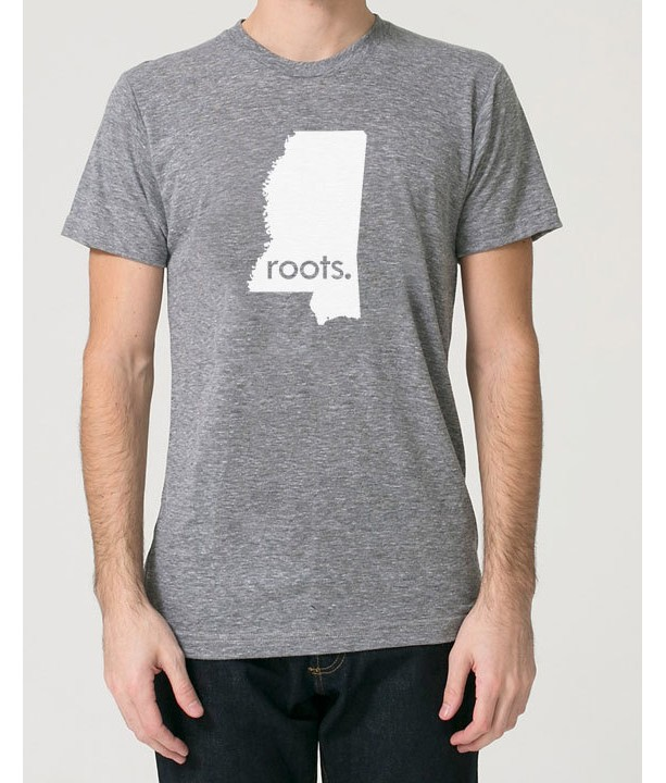 Mississippi MS Roots Tri Blend Track T-Shirt - Unisex Tee Shirts Size S M L XL
