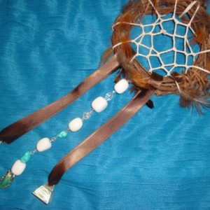 Dream Catcher | Brown Dreamcatcher | Southwestern | Native American| Wind chime Garden Art | 6 inch