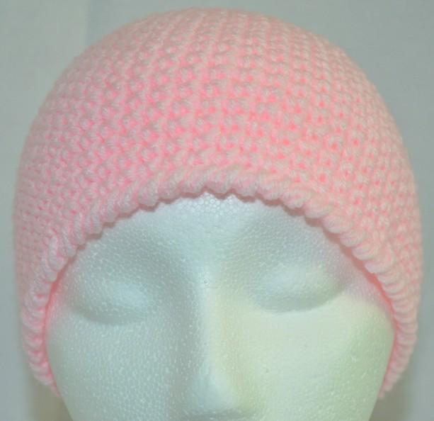 Handmade Pink Crochet Beanie  , Woman / Teen / Tween Beanie   b105