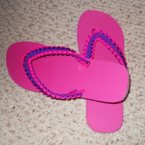 Paracord Flip Flops, custom flip flops, custom shoes, custom colors