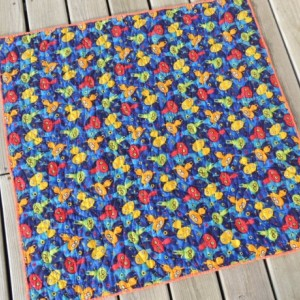 Quilt for Baby Boy Primary Colors Red, Yellow, Blue, Green No Girls Allowed