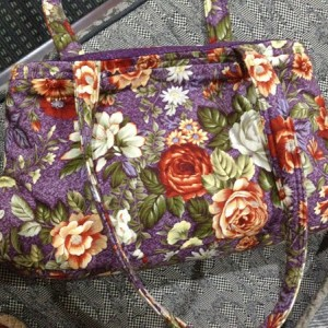 Floral Fabric Shoulder Bag