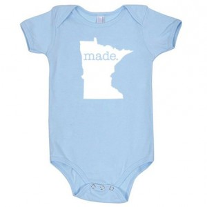 Minnesota 'Made.' Cotton One Piece Bodysuit - Infant Girl and Boy