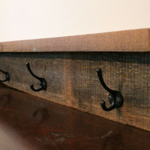 Rustic Coat Rack - Wood