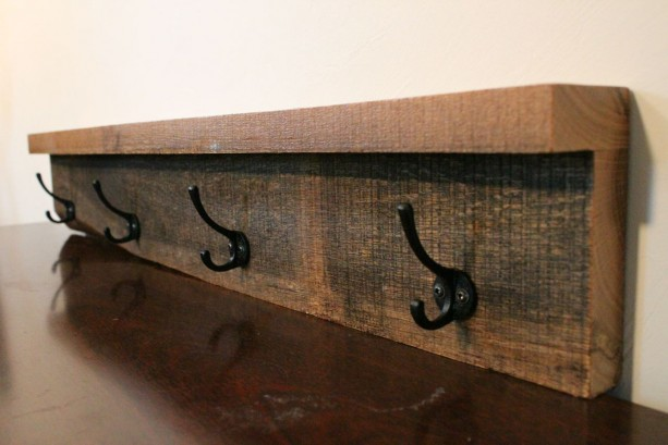 Rustic Coat Rack - Wood