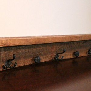 Wooden Shelf - Coat Rack