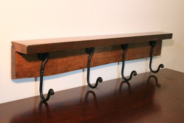 Decorative Wooden Shelf with Natural Edge