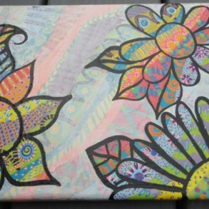 Whimsy-doodle Vibrant Flowers