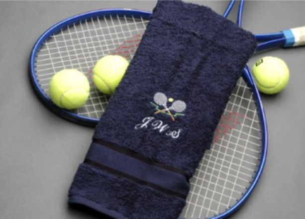 Personalized Tennis Towel, Quality Towels, Custom Name Initials, Embroidered Gifts for Men, Sports Towels, Under 20 Dollars, Cre8ivGifts
