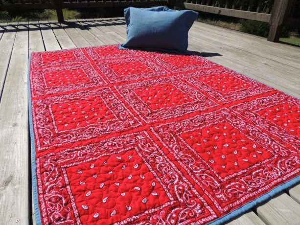 Any Color Twin Size Bandana Quilt Denim Western Cowboy