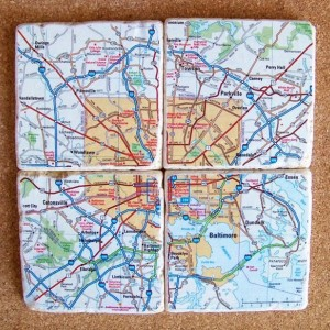 Baltimore Map Coasters