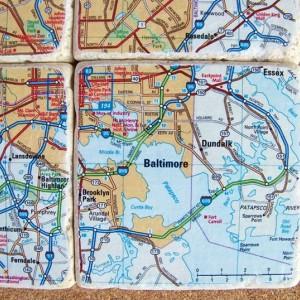 Baltimore Map Coasters