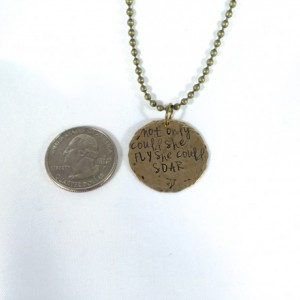 Fly Hand Stamped Necklace