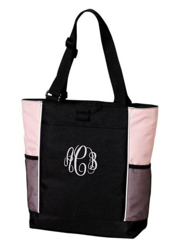 Monogram Tote Bag Travel Bags Custom Personalized Gifts Christmas Gift Co Worker Beach Cre8ivgifts