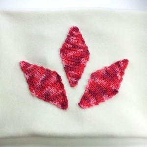 Applique pillow cover, fleece with crochet diamonds, fleece pillow cover, soft pillow, crochet applique pillow, nursery pillow, white pink