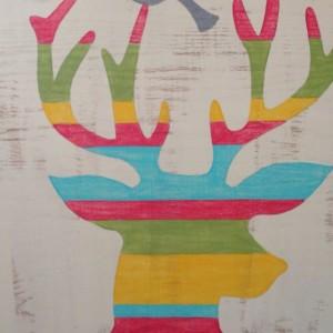 Large hand painted Woodland Nursery Decor, Woodland Deer, Deer Art, Kids Decor, Kids Wall Art, Nursery Art, Deer Painting, Rustic Decor