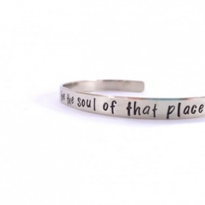 Wherever You Stand Hand Stamped Nickel Silver Cuff Bracelet