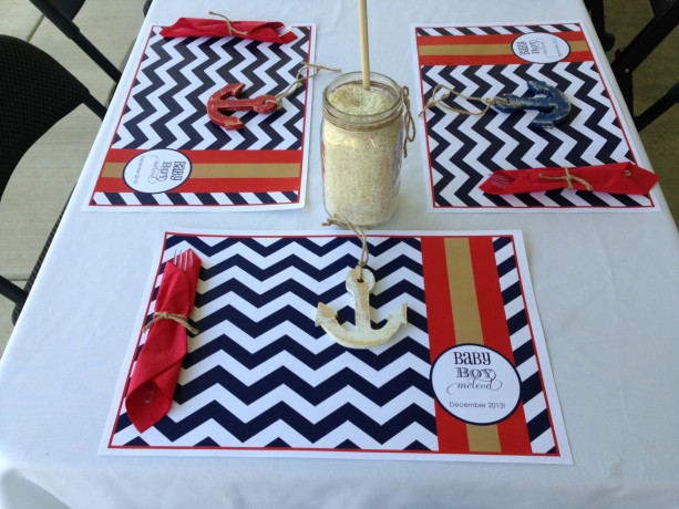 50 Customized Paper Placemats for Baby Shower