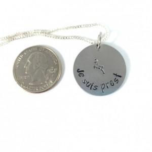 Je Suis Prest Hand Stamped Necklace