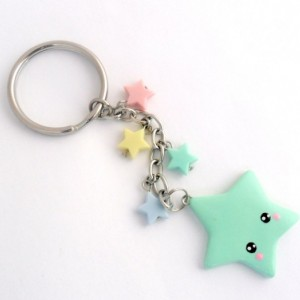 Kawaii Shooting Star Keychain, Lolita, Fairy Kei, Cute :)