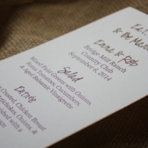 Menu Card -  Personalized Menu