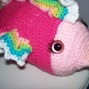amigurumi fish, fish, stuffed fish, crochet fish, tropical fish, tropical fish toy, hot pink toy, stuffed animal
