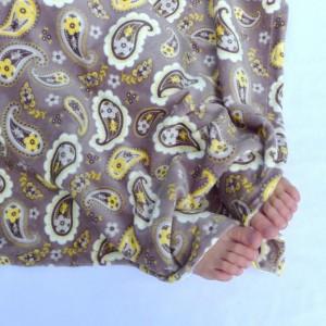 Baby Blanket, Minky Baby Blanket, Yellow and Gray Baby Blanket, Paisley Baby Blanket, Polka Dot Baby Blanket
