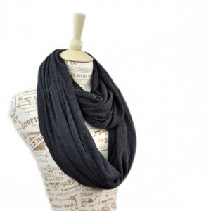 Charcoal Sweater Ribbed Knit Infinity Scarf