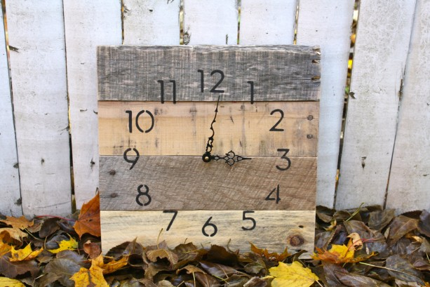 Rustic, natural reclaimed wood clock. No paint No stain. MODERN Meets  RUSTIC Custom - Rustic, Natural Reclaimed Wood Clock. No Paint No Stain. MODERN M