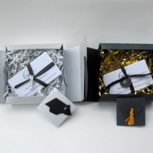 Sentimental Expressions Graduation/Teach Boxes- 10 quotes and sayings on individual cards, elegantly wrapped in a beautiful designed package